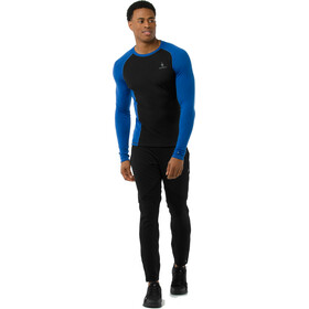 Smartwool Merino 200 Baselayer Longsleeve Heren, bright blue-black